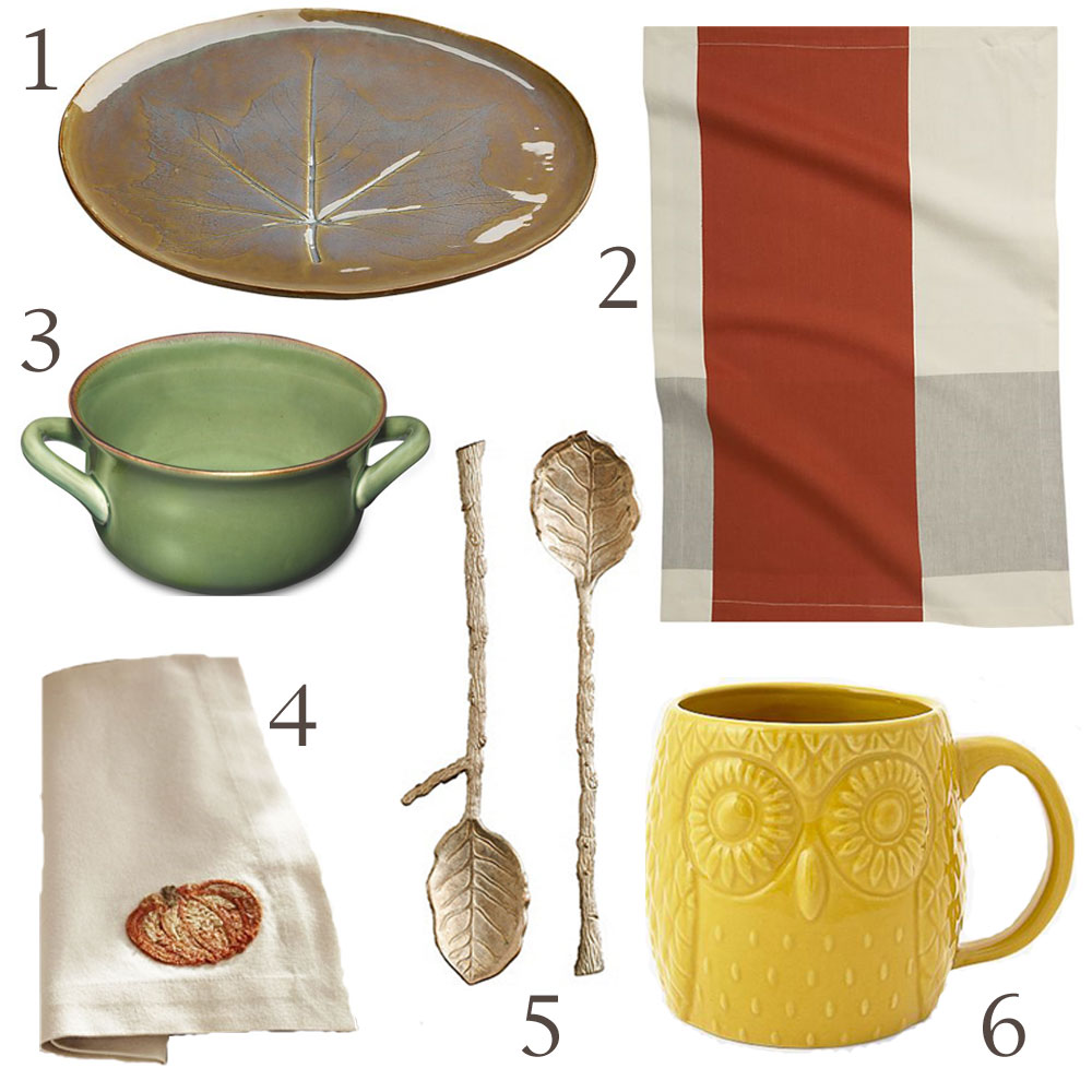 fall finds for kitchen and table decor
