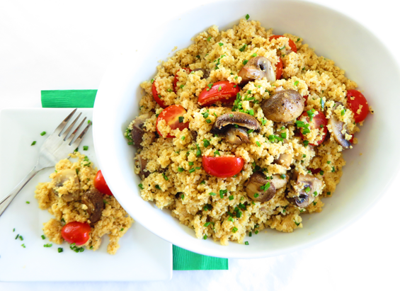 roasted-mushroom-couscous-with-lemon-vinaigrette