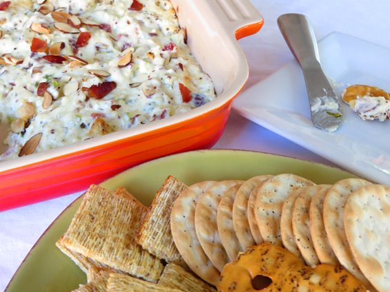 swiss bacon and almond dip