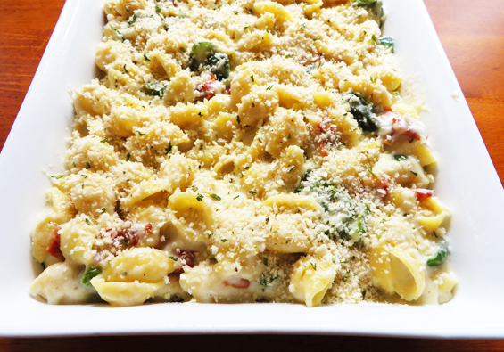 bacon poblano blue cheese mac and cheese