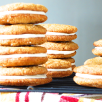chewy ginger sandwich cookies with cinnamon cream cheese filling | sunsets on the side