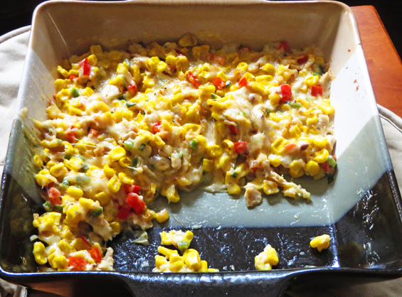 sweet and spicy corn and turkey dip