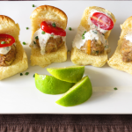 Tomatillo Turkey Sliders with Creamy Lime Chive Sauce