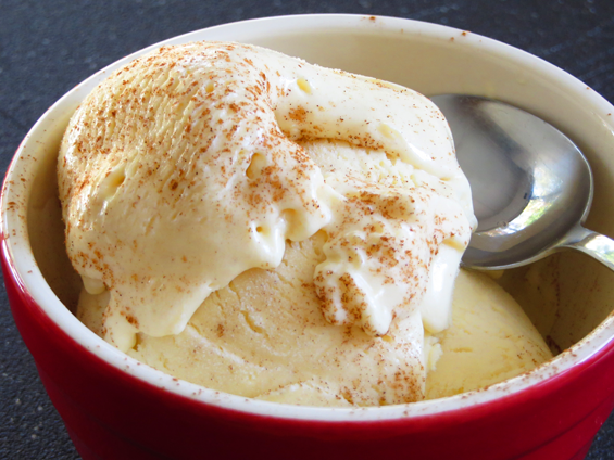 eggnog cheesecake ice cream | sunsets on the side