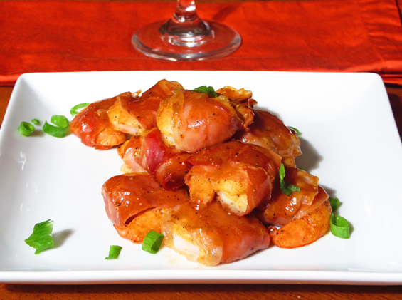 honey dijon prosciutto wrapped shrimp | sunsets on the side