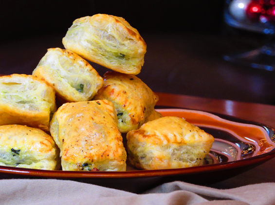 smoked salmon & spinach puffs | sunsets on the side