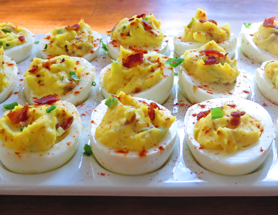 bacon & chive deviled eggs