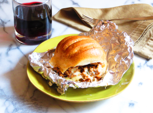baked sausage & fontina sandwiches | sunsets on the side