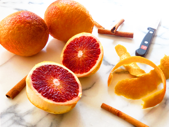 blood orange for mulled wine | sunsets on the side