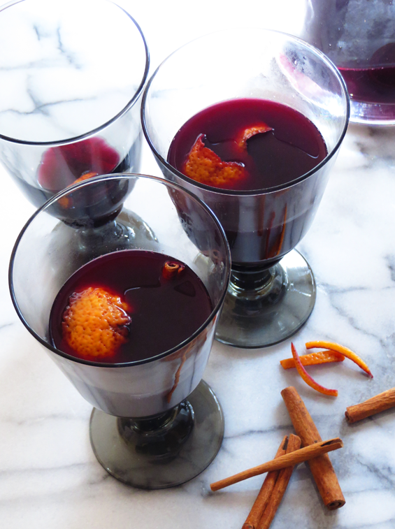 blood orange mulled wine | sunsets on the side