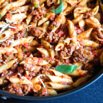 Penne with Creamy Ground Turkey Tomato Sauce