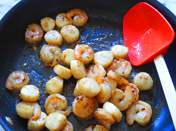 scallops and shrimp | sunsets on the side