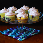 Blueberry Cupcakes with Blueberry Cream Cheese Icing