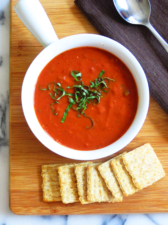 rustic tomato soup | sunsets on the side